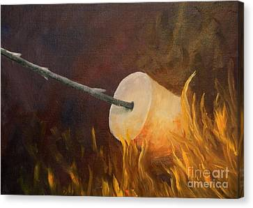 Flaming Canvas Print by Joi Electa