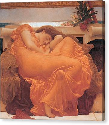 Flaming June - 1895 Canvas Print by Lord Frederic Leighton