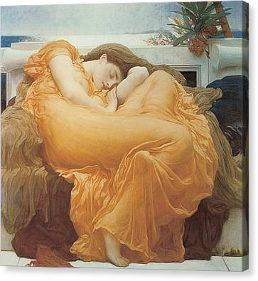 Flaming June By Leighton Canvas Print