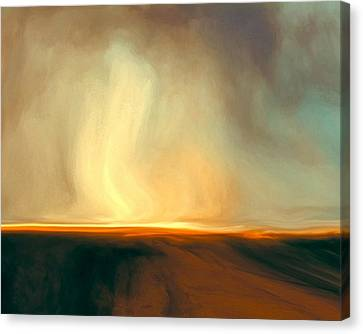Flaming Sky Canvas Print by Lonnie Christopher