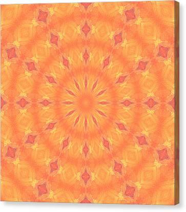 Canvas Print featuring the digital art Flaming Sun by Elizabeth Lock