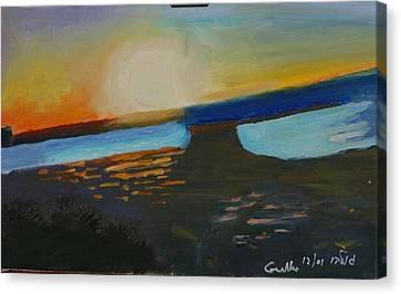 Flaming Sunset   Canvas Print by Harris Gulko