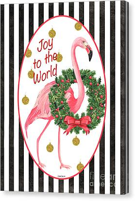 Celebrate Canvas Print - Flamingo Amore 2 by Debbie DeWitt