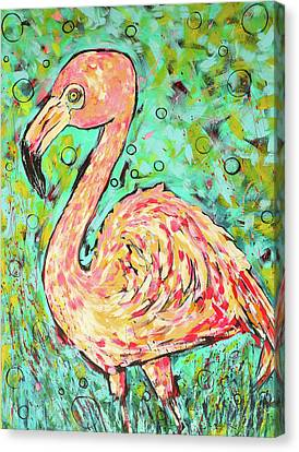 Flamingo Canvas Print by Arrin Burgand