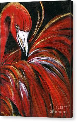 Flamingo Bling Canvas Print