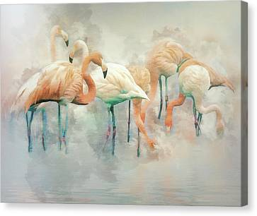 Flamingo Fantasy Canvas Print by Brian Tarr