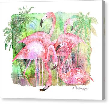 Flamingo Five Canvas Print