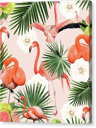 Flamingo Guava Canvas Print