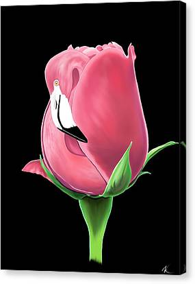 Flamingo Rose Canvas Print