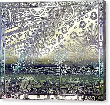 Flammarion Engraving Colored Canvas Print
