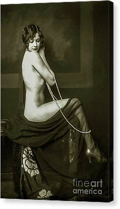 Flapper Pin Up  Canvas Print