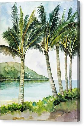 Flapping Palm Trees Canvas Print