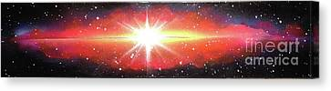 Cosmic Flash Canvas Print by A S L