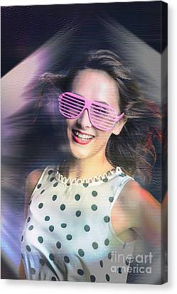 Flashback Of The Retro Hologram Girl Canvas Print by Jorgo Photography - Wall Art Gallery