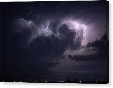 Flashes Of Lightening Canvas Print