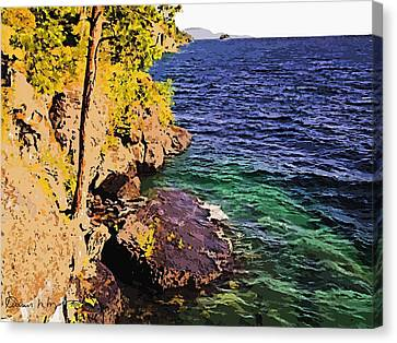 Flat Head Lake Canvas Print by Russ Harris