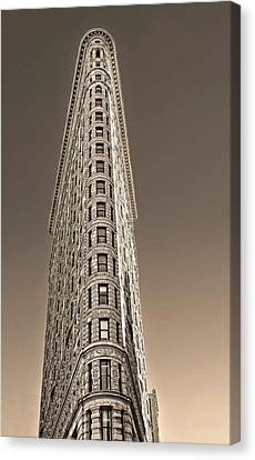 Flat Iron Building New York City Canvas Print by Dave Mills