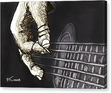 Flat Pickin' Canvas Print by David Fossaceca