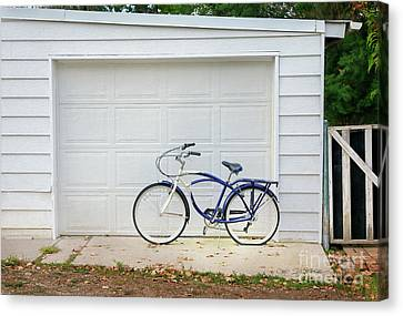 Canvas Print featuring the photograph Flat Tire Bicycle by Craig J Satterlee