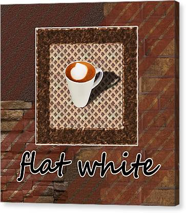 Flat White - Coffee Art Canvas Print by Anastasiya Malakhova