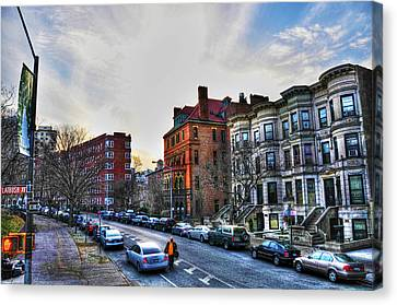 Brownstone Canvas Print - Flatbush Ave In Brooklyn by Randy Aveille