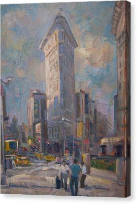 Flatiron Building Canvas Print
