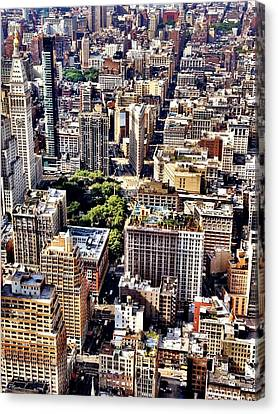 Flatiron Building From Above - New York City Canvas Print by Vivienne Gucwa