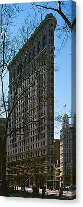 Flatiron Building Manhattan New York Canvas Print by Panoramic Images