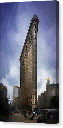 Apartment Canvas Print - Flatiron Building by Marvin Spates