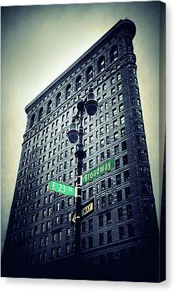 Canvas Print featuring the photograph Flatiron Directions by Jessica Jenney