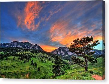 Fort Collins Canvas Print - Flatiron Glow by Scott Mahon