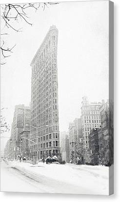 Flatiron In Winter Canvas Print by Jessica Jenney