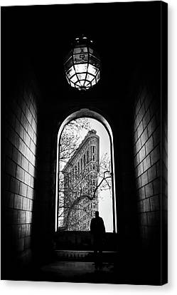 Canvas Print featuring the photograph Flatiron Perspective by Jessica Jenney