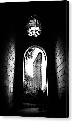 Canvas Print featuring the photograph Flatiron Point Of View by Jessica Jenney