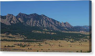 Canvas Print featuring the photograph Flatirons Of Boulder by Christopher Kirby