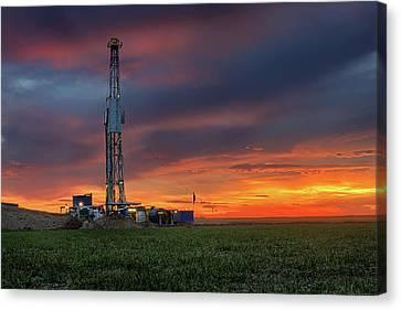 Flatland Drilling Canvas Print