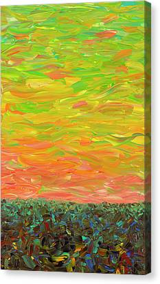 Flatland - Sunset Looking West Canvas Print by James W Johnson