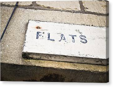 Flats Sign Canvas Print