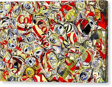 Flattened Coke Cans Canvas Print