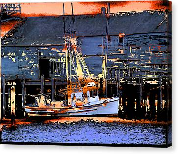 Flattery Boatset Canvas Print by Alan M Thwaites