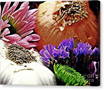 Flavored With Onion And Garlic Canvas Print by Sarah Loft