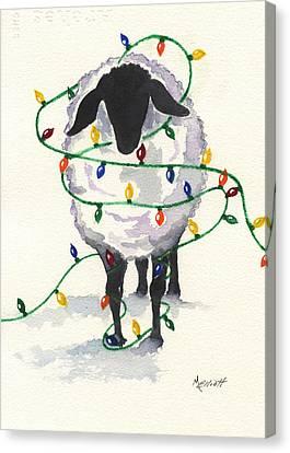 Fleece Navidad Canvas Print by Marsha Elliott
