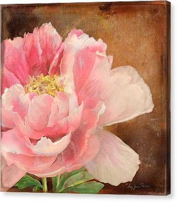 Fleeting Glory - Peony 2 Canvas Print by Audrey Jeanne Roberts