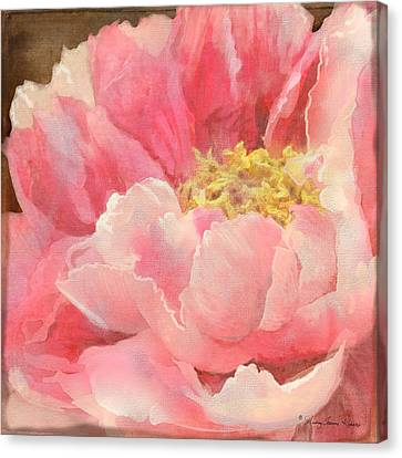 Fleeting Glory - Peony Canvas Print by Audrey Jeanne Roberts