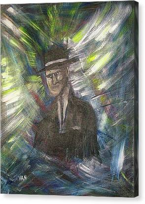 Fleeting Image Of A Young Man Canvas Print