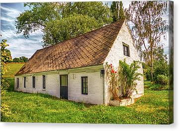 Flemish Cottage Canvas Print by Wim Lanclus