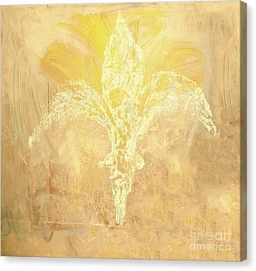Fleur De Lis Gold Canvas Print