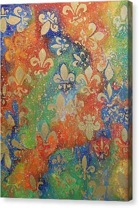 Fleur De Arcencial Canvas Print by Made by Marley