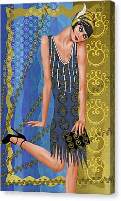 Fleur De Bleue Canvas Print