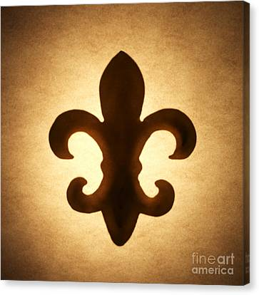 Brown Tones Canvas Print - Fleur-de-lis by Tony Cordoza